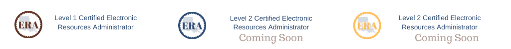ER Admin Certification Legend
