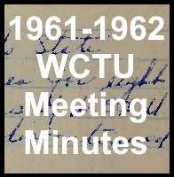 1961-1962 WCTU Meeting Minutes