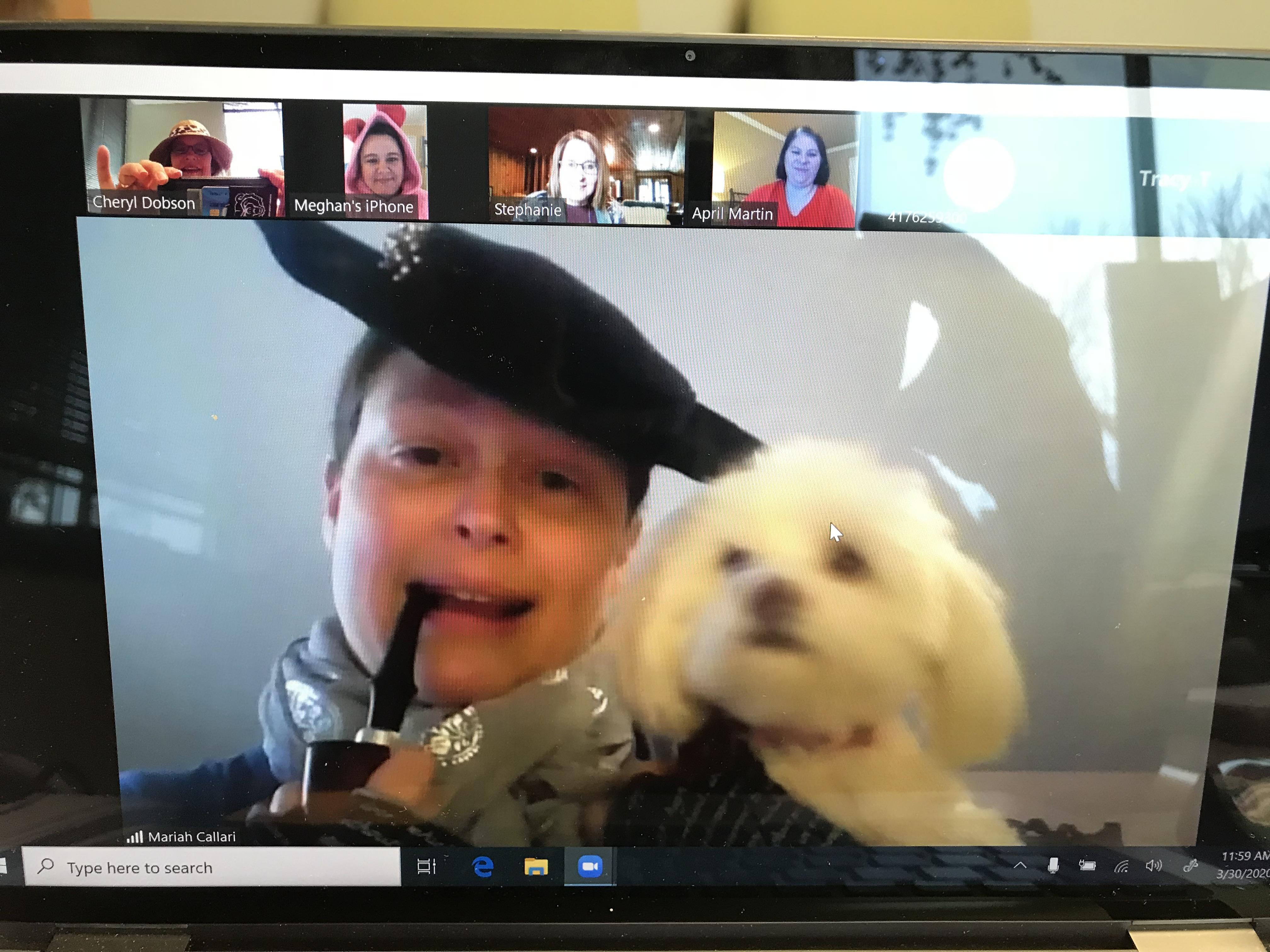 Mariah Callari with her dog