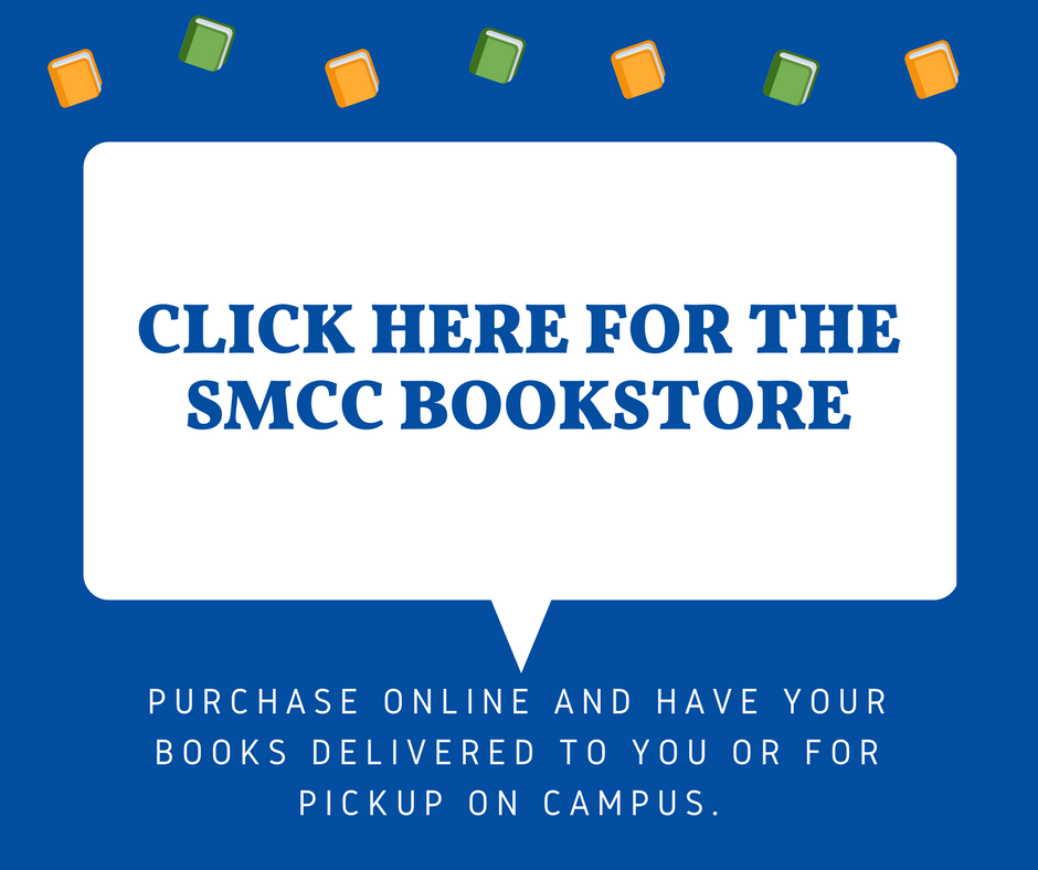 The SMCC Bookstore, located in the South Portland Campus Center, carries textbooks for SMCC's course offerings every semester and a wide variety of SMCC apparel and goods for students, parents, alumni and supporters.