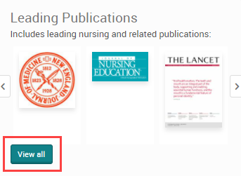 Leading Publications and View all publications scroll and link