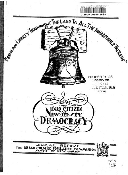 The Negro Citizen and New Jersey Democracy