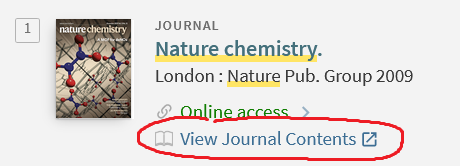 View Journal Contents