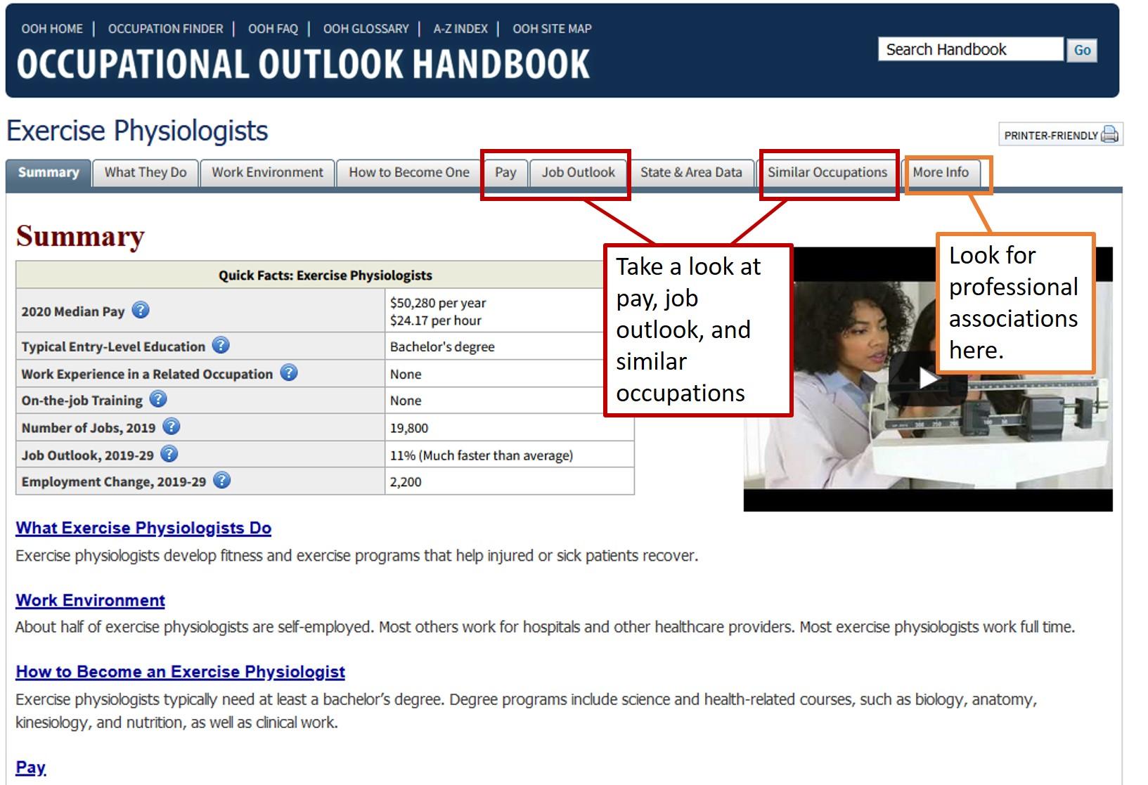OOH-Occupational Outlook Handbook