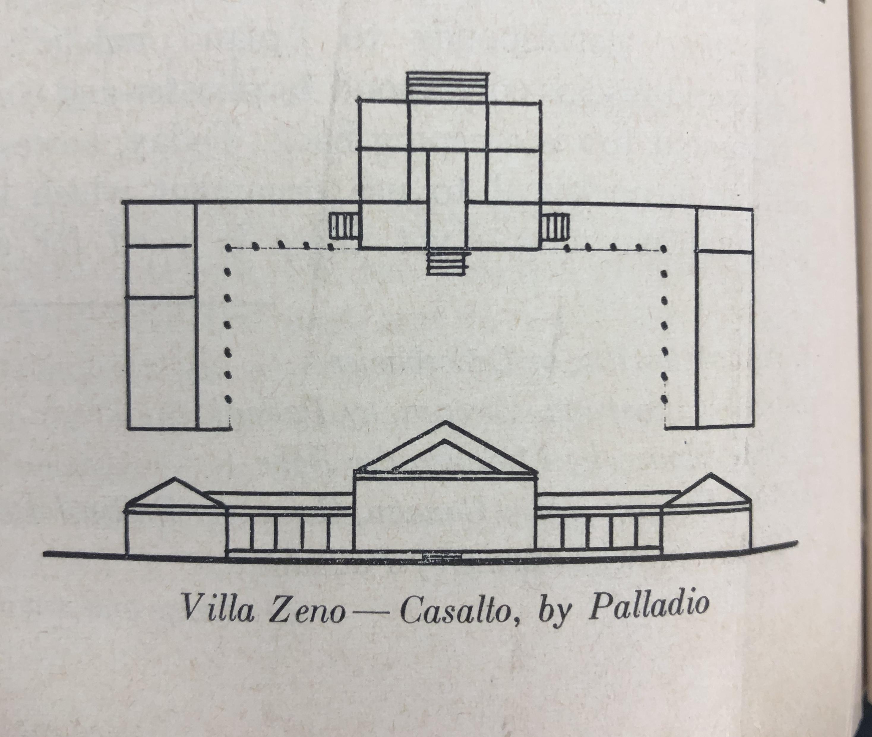 Villa Zeno - Casalto architectural plan by Palladio
