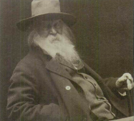"image Cox, George C. ""Walt Whitman, head-and-shoulders portrait, facing right, wearing hat."" 1887, Library of Congress Prints & Photographs Division."