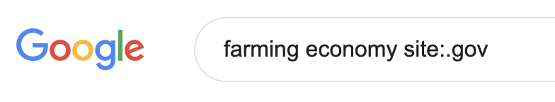 farming economy site:.gov advanced search
