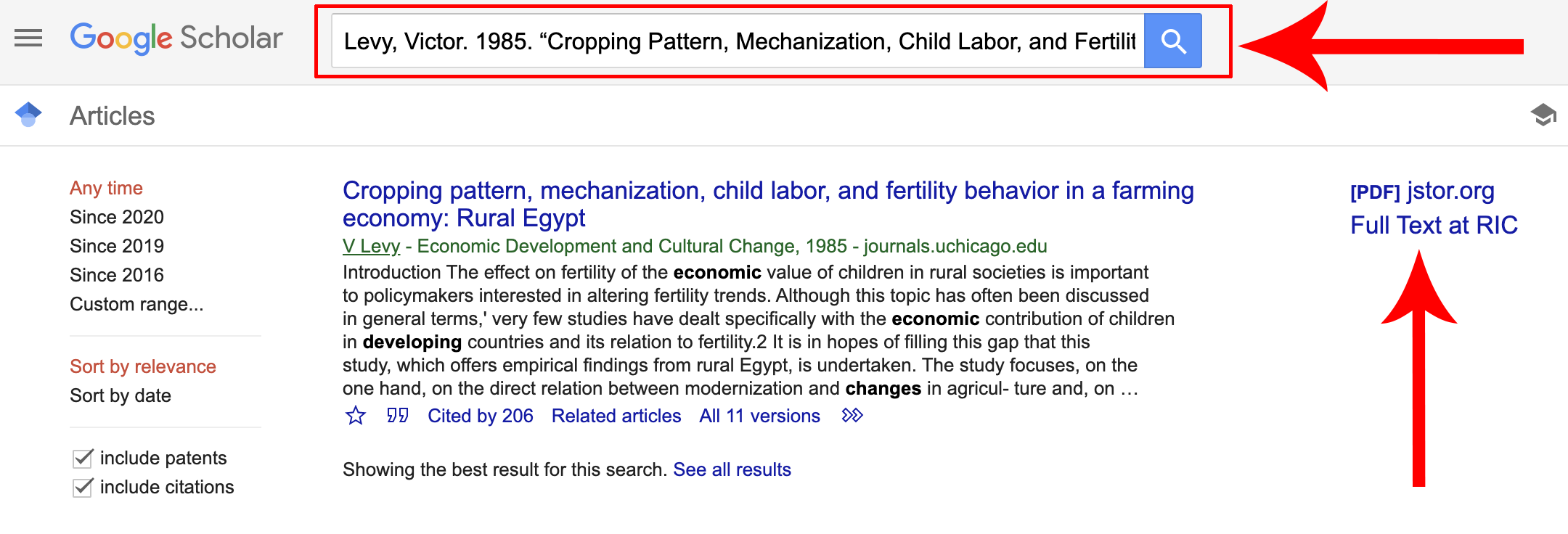 Google Scholar Citation Search