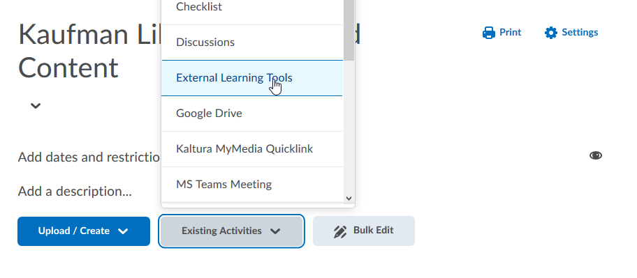 Step One - Manually Adding a Research Guide