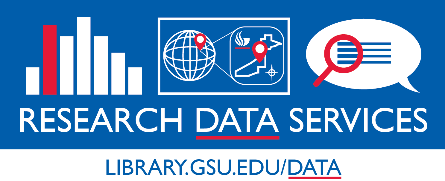 GSU Library's Research Data Services (RDS) Team logo