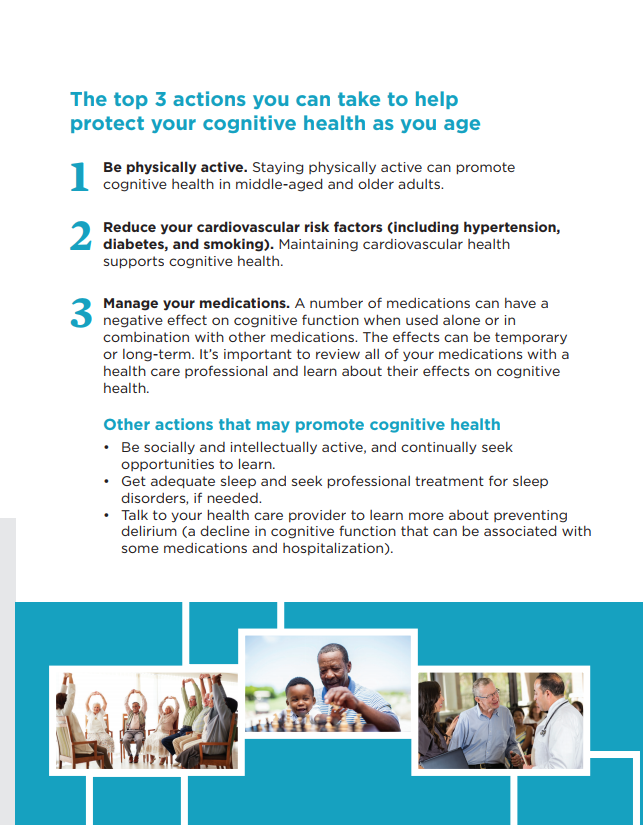 Cognitive Aging (National Academy of Sciences) fact sheet text with pictures of older adults