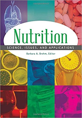 Nutrition encyclopedia cover. Decorative.