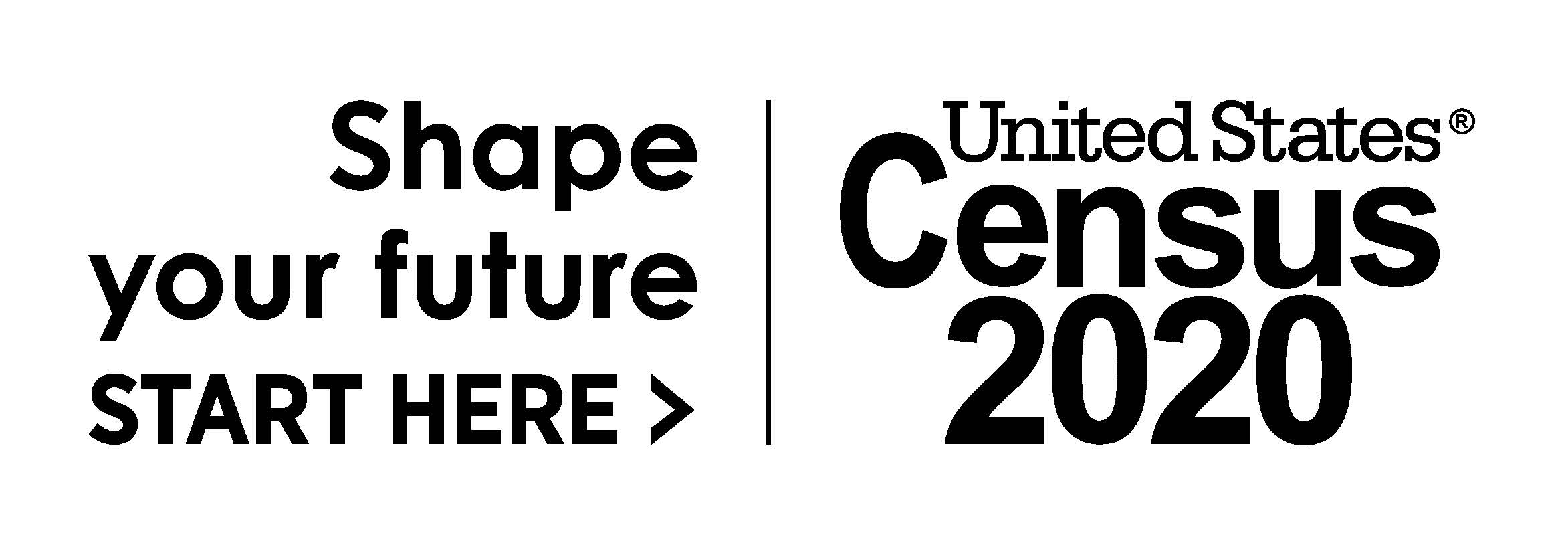 Shape your future, start here: United States Census logo.