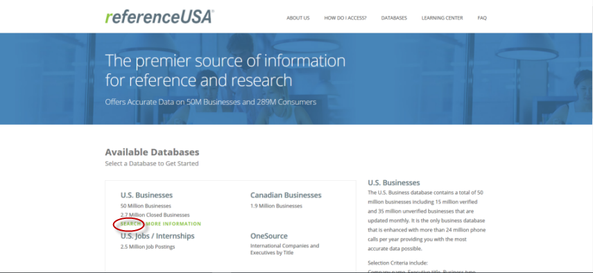 Reference USA: U.S. Businesses
