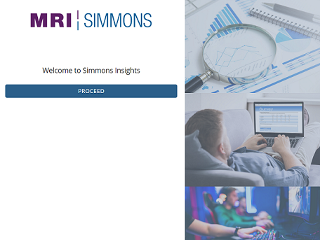 Click on the Proceed button to connect to Simmons Insights.