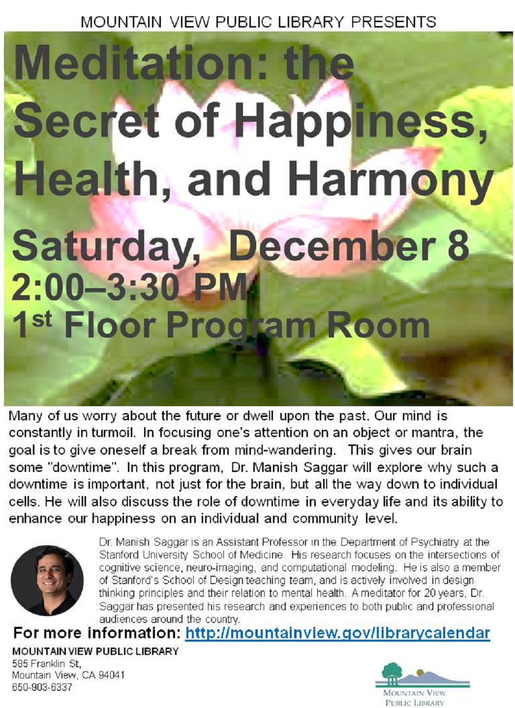 Meditation: the Secret of Happiness, Health, and Harmony with Dr. Manish Saggar