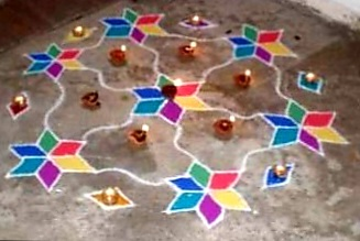 Diwali floor decoration
