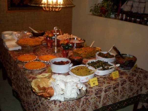 Diwali dinner plates