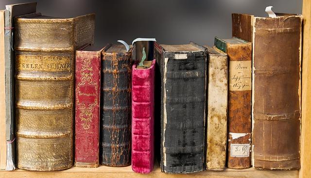 Shelf with older books