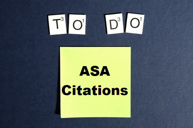 To Do Post it that says ASA Citations