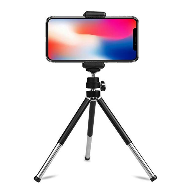 Lightweight Mini Webcam Tripod and phone clamps