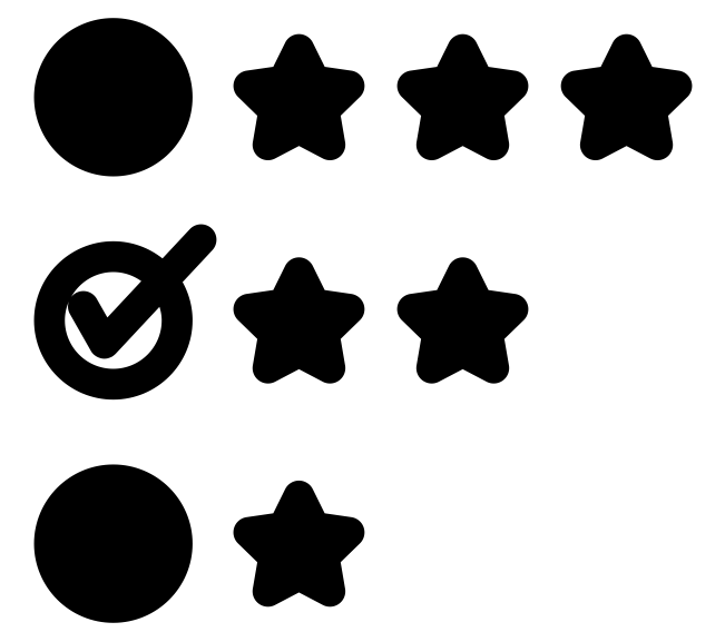 rating system based on stars