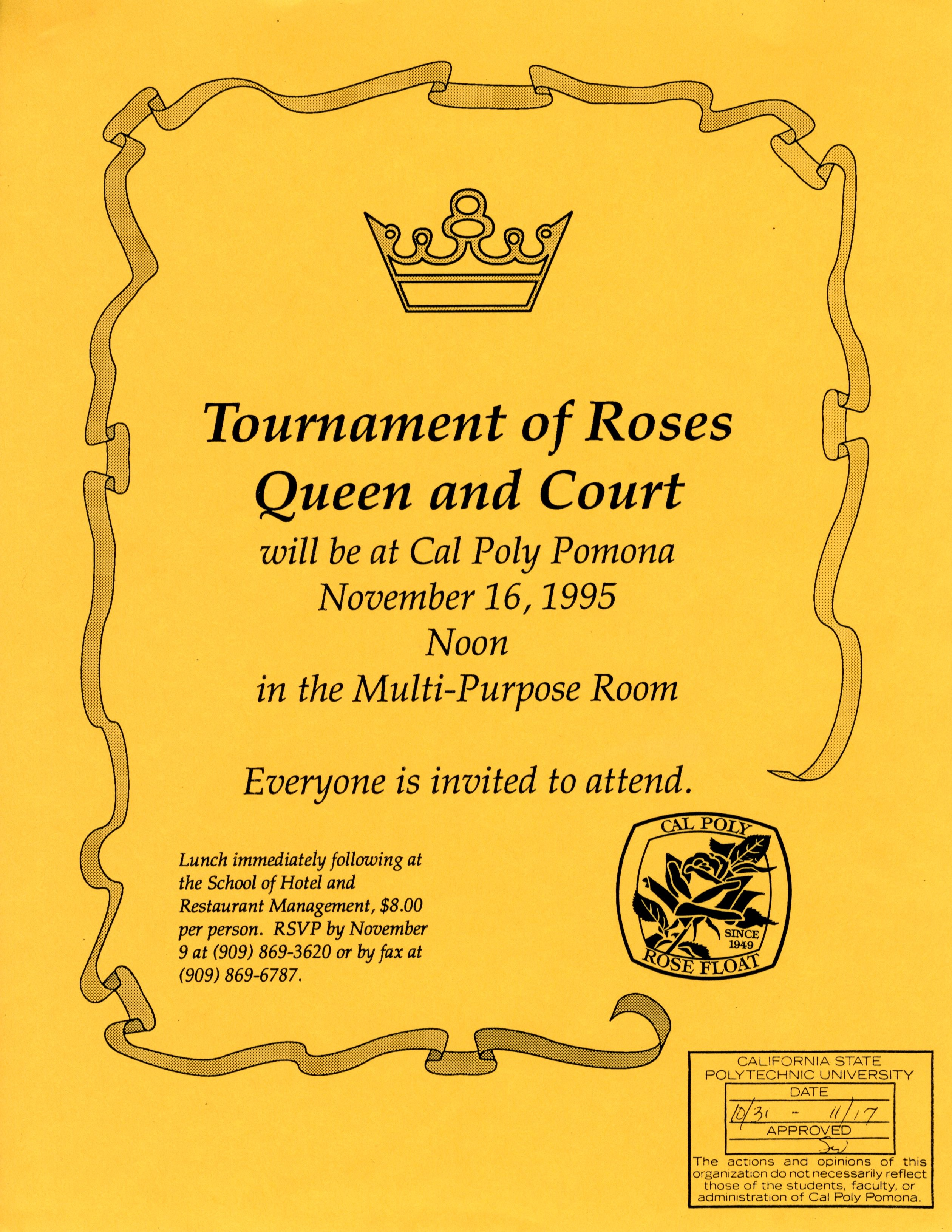 Tournament of Roses flyer