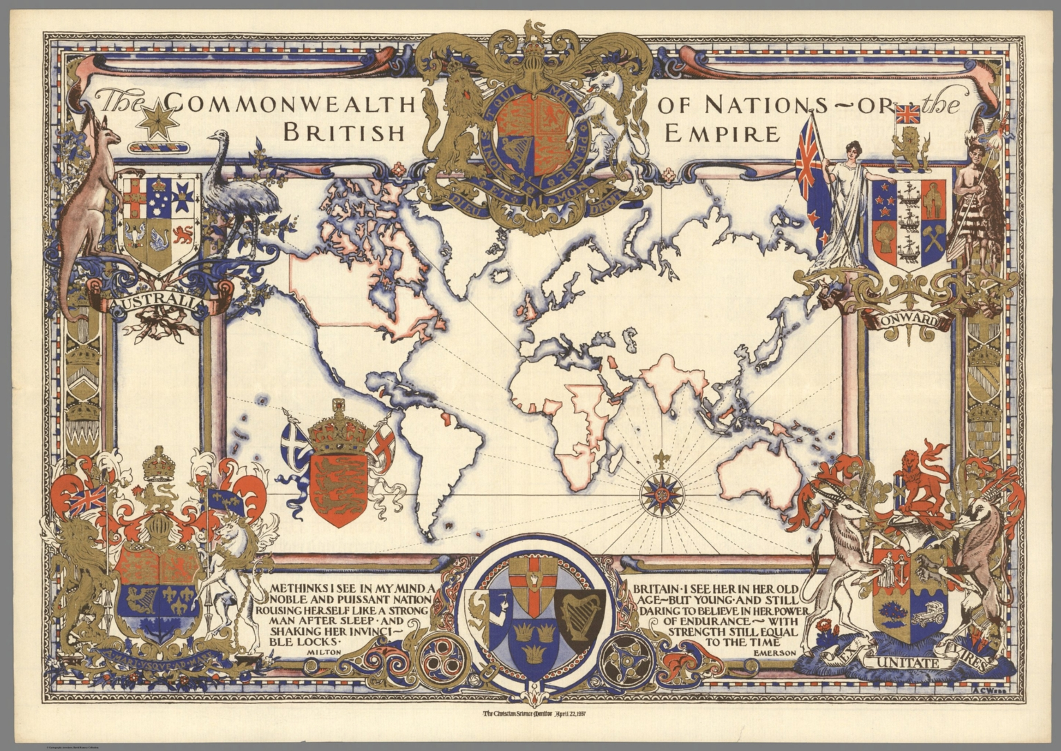 1937 map of british empire