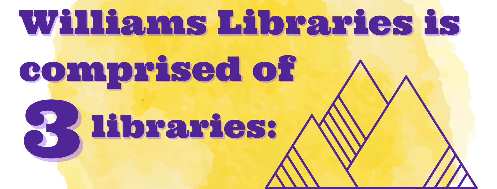 Williams Libraries is comprised of three libraries