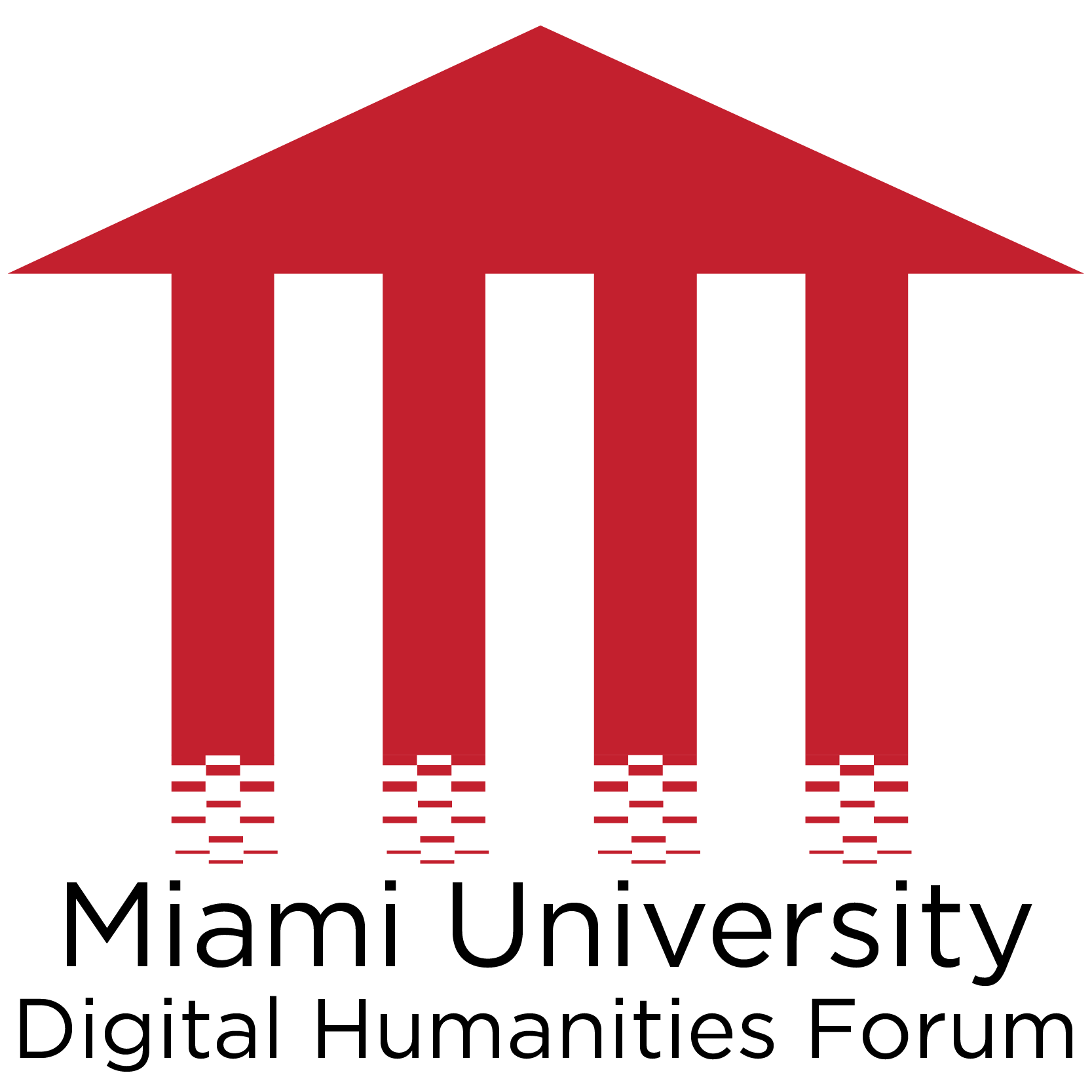 DH Forum logo, red
