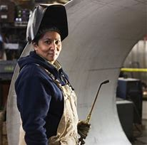 photo of female welder