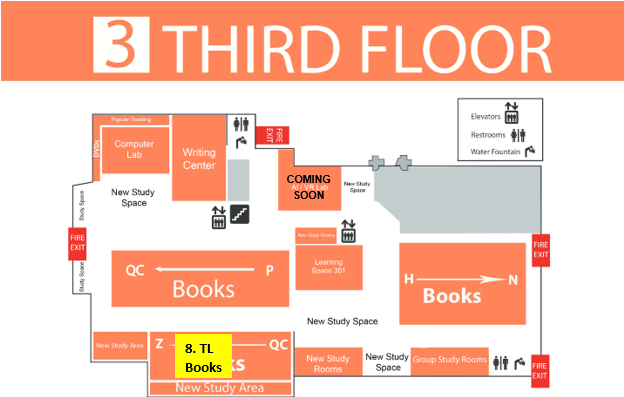 Map of 3rd floor of library