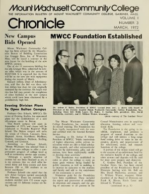 MWCC Chronicle Front Page