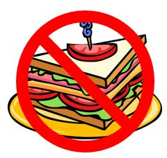 image of club sandwich, as an illustration of no meals in the library
