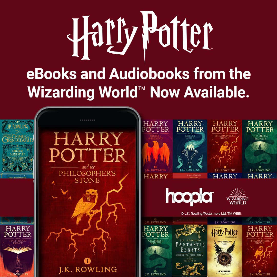 Harry Potter available on Hoopla