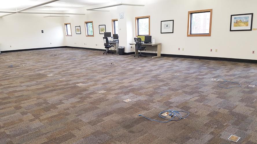 empty floor space