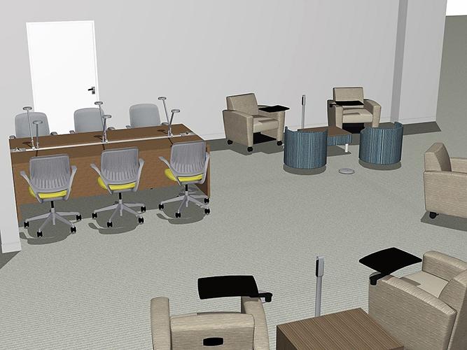 3d rendering of seating