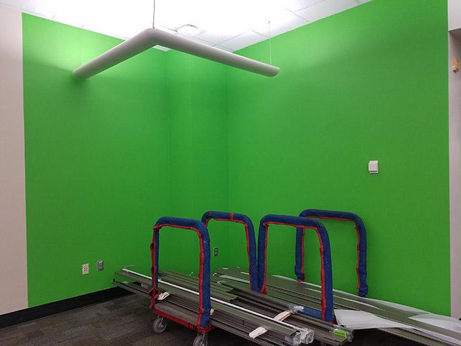 green screen wall