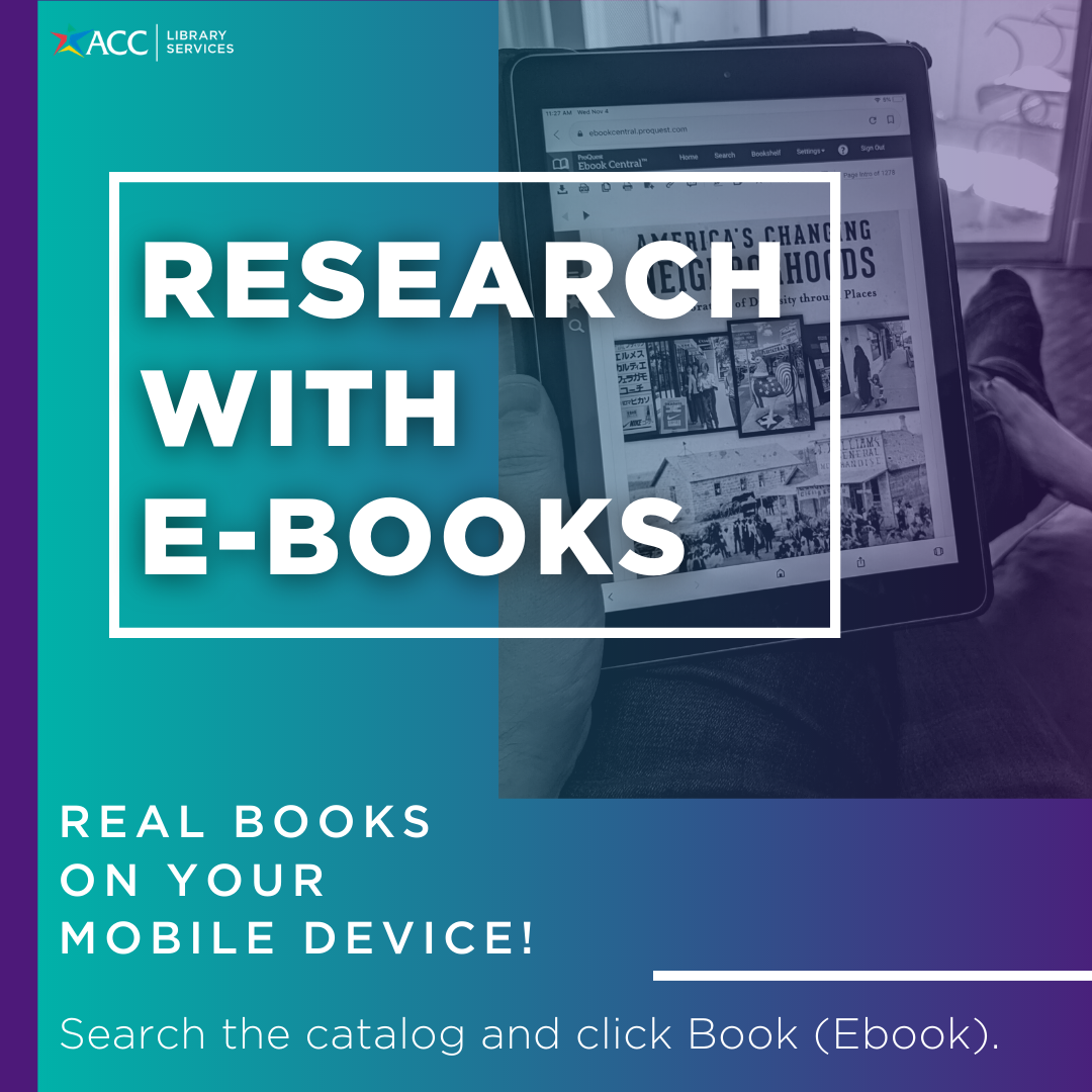 Research with ebooks! Real books on your mobile device