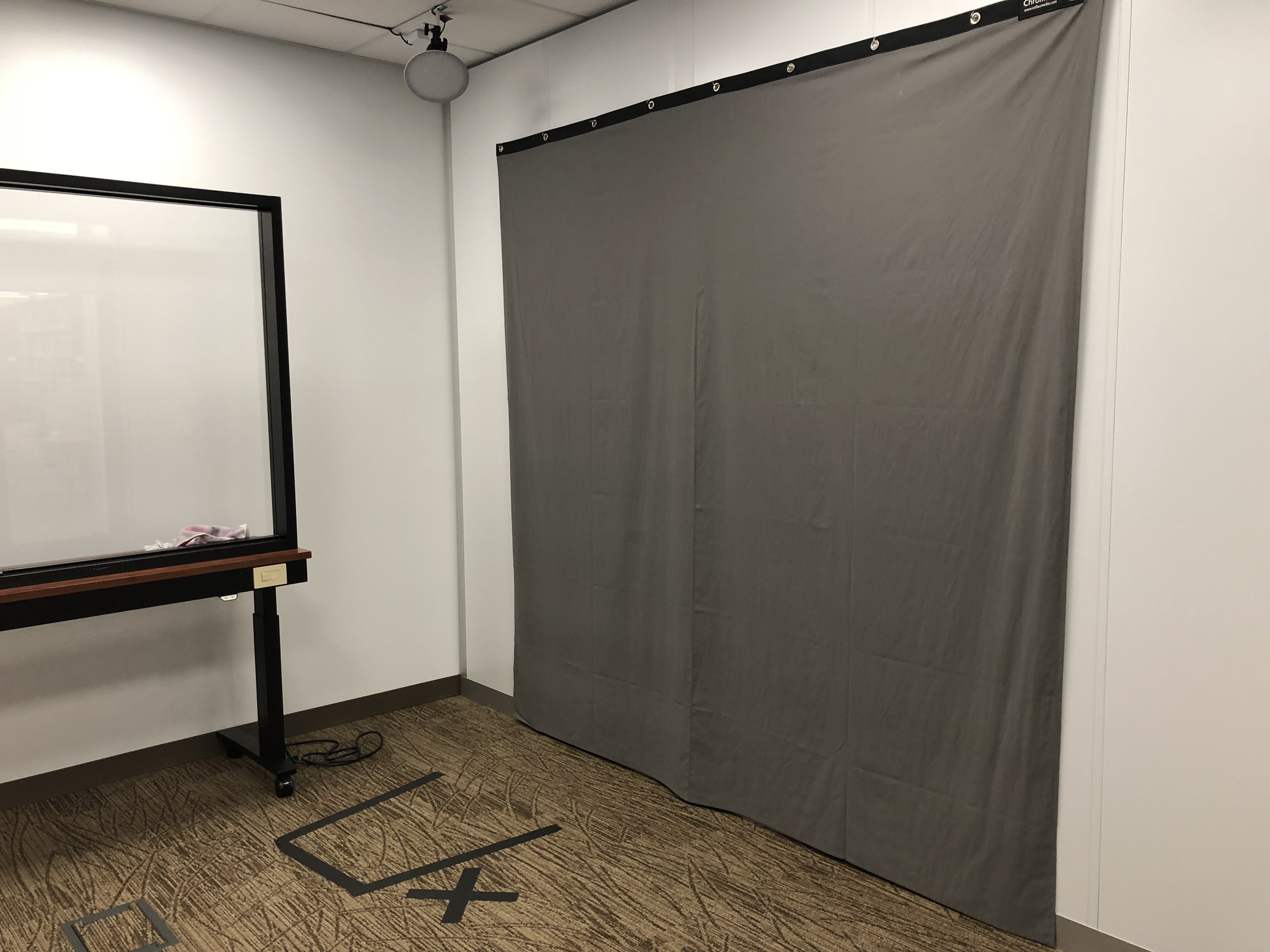 Green screen in the One Button Studio
