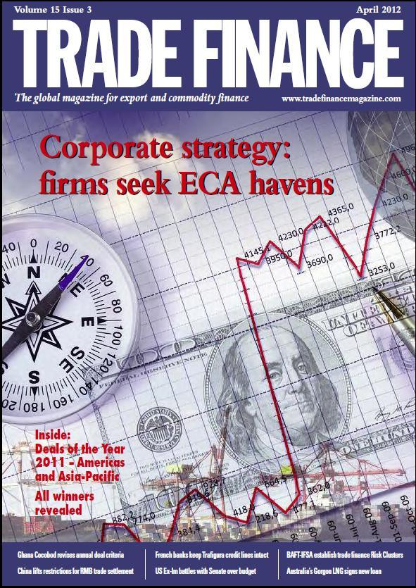 Cover of April 2012 Trade Finance magazine