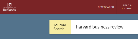 "screenshot of the Primo header which includes a link to ""Read a Journal"" which directly searches for specific publications."