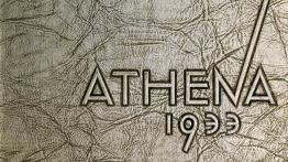 Closeup on an Athena yearbook circa 1933, from University Archives