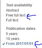 PubMed Free Full Text Search
