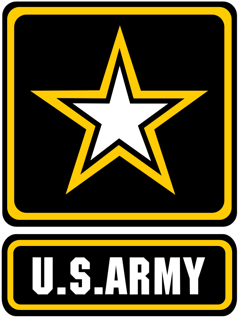 US Army Logo black with yellow star