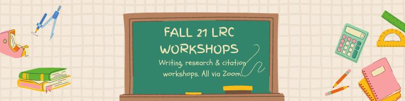 Fall 21 Workshops
