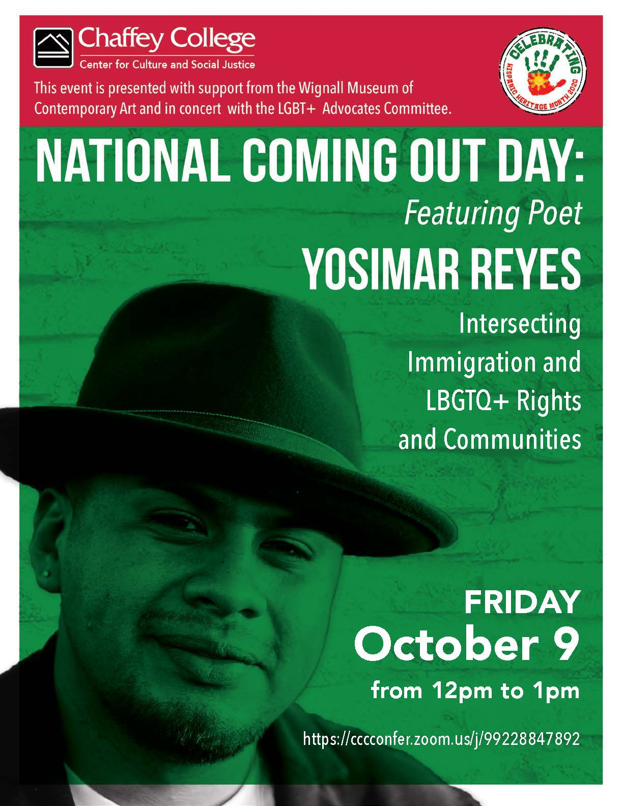 National Coming Out Day: Featuring Poet Yosimar Reyes Intersecting Immigration and LBGTQ+ Rights and Communities