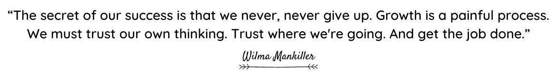 Willma Mankiller quote
