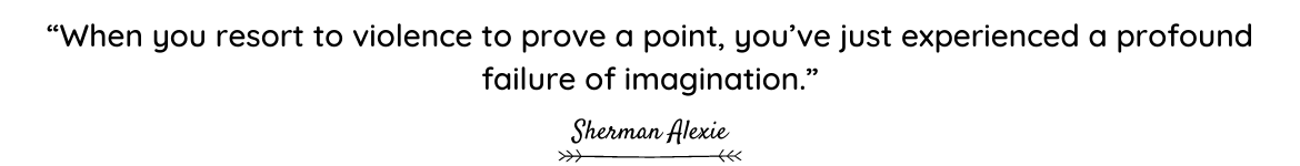 Sherman Alexie quote