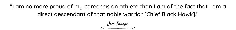 Jim Thorpe quote
